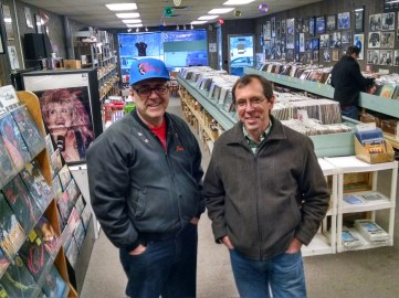 Vinyl Cave, Superior, Wis. One of my favorite record stores in America closed Dec. 31. Owners Tom Johnson, left, and Tom Unterberger posed for a picture I took for a Perfect Duluth Day news story on the closing.